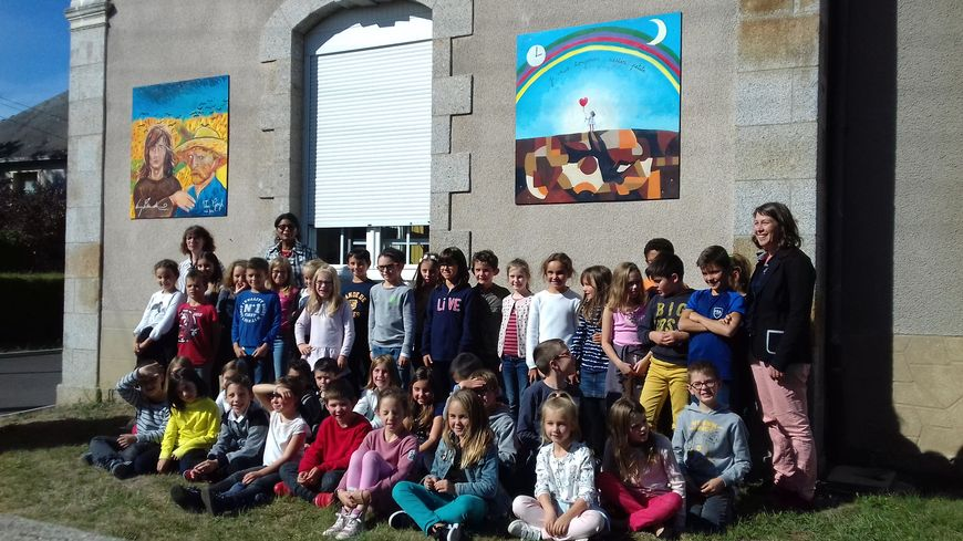 illustration fresques école escudero