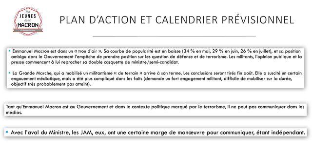 """""""Emmanuel Macron est dans un trou d'air"""" - Extraits du plan d'action stratégique des Jeunes avec Macron."""