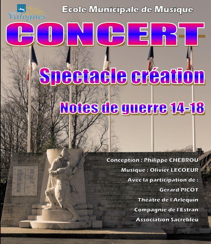 Une création proposée dans le cadre de la commémoration du centenaire de la guerre 1914-1918