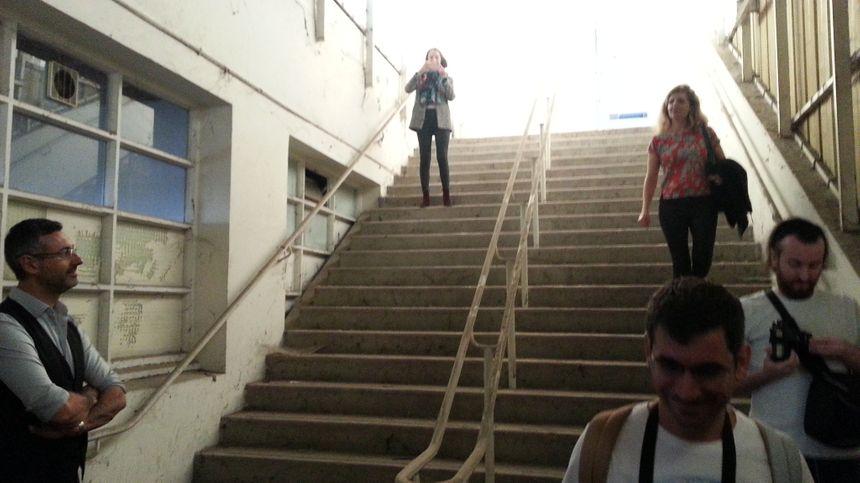 L'escalier des ouvriers pourrait devenir un décor de métro à Valréas