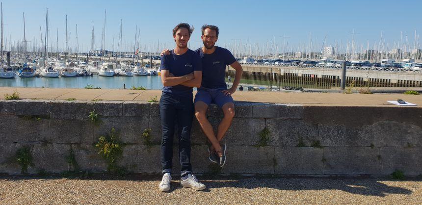 Alexandre Dechelotte et Benjamin de Molliens deux des 4 cofondateurs de Plastic Odyssey