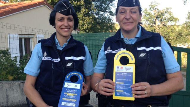 Les gendarmes sensibilisent des habitants de Sorbiers sur les problèmes de cambriolage à l'approche de l'hiver