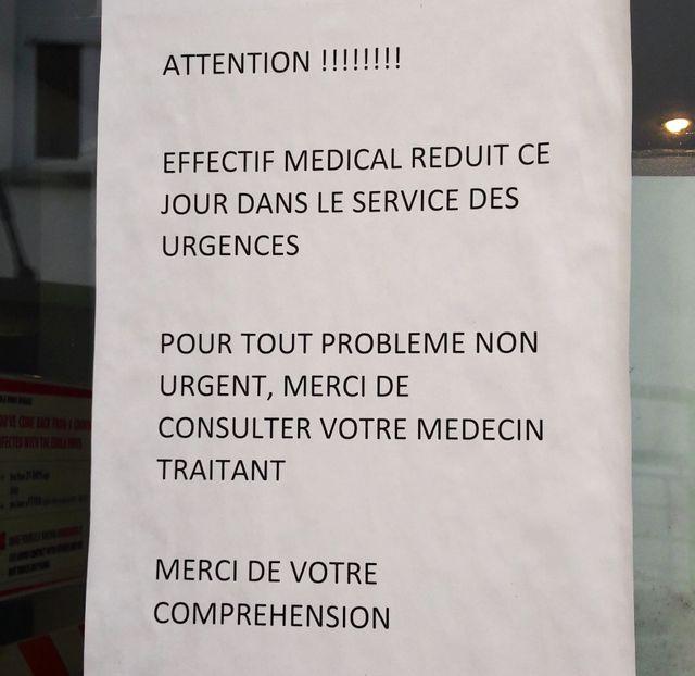 A Montereau, le message est clair : tous les patients ne peuvent pas être admis.