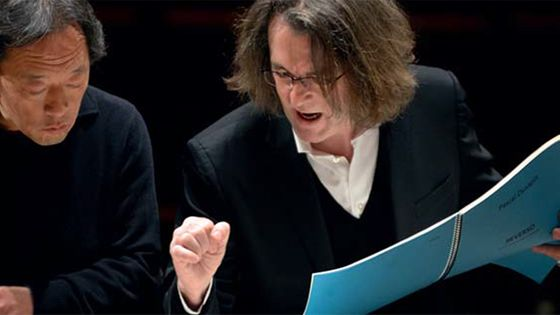 Myung-Whun Chung dirige le concerto de Pascal Dusapin (g. à d.)