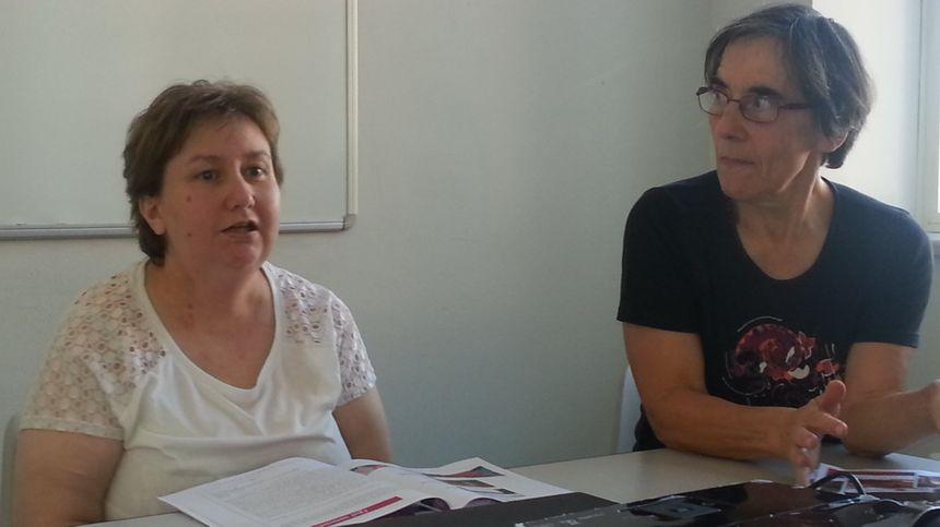 Stéphanie Deloirs, secrétaire de l'OMSJC (à gauche) et Solange Van Landeghem, présidente.