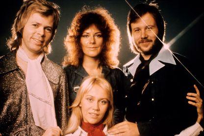"""Bjorn Ulvaeus, Anni-Frid Lyngstad, dite Frida, Agnetha Faltskog et Benny Andersson sont les quatre membres d'ABBA, groupe qui signe un tube mondial avec """"Dancing Queen"""""""
