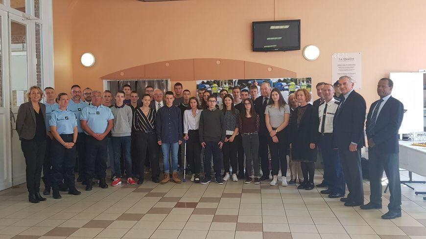 La promotion de cadets de la gendarmerie a fait sa rentrée au lycée Saint-Martin d'Amiens le 29 septembre 2018