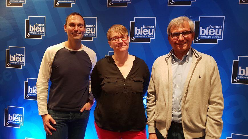 Christelle Coraux de l'Inserm, Francis Faverdin, et Olivier Cattiaux