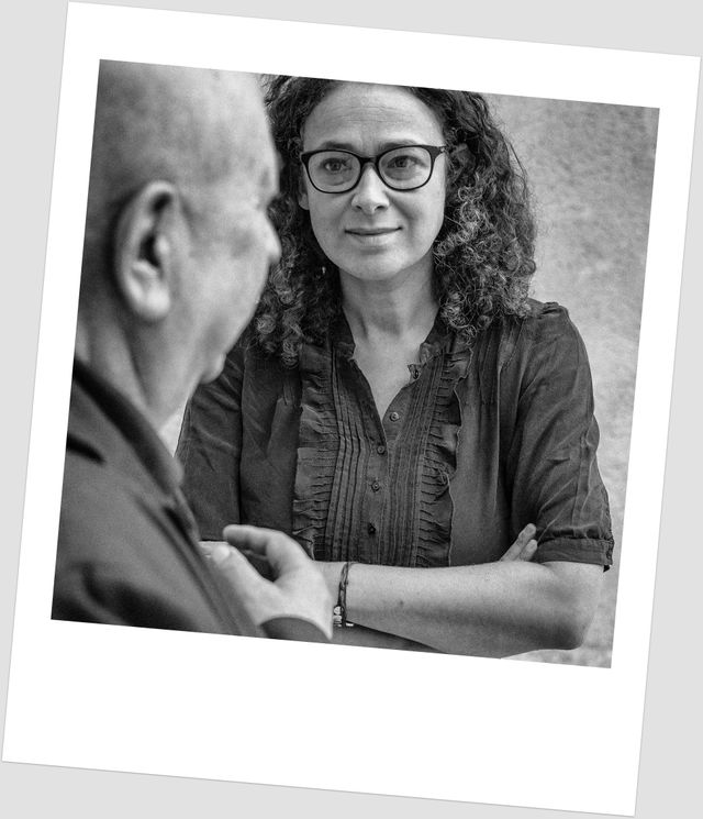 Le rabbin Delphine Horvilleur et le plasticien Christian Boltanski