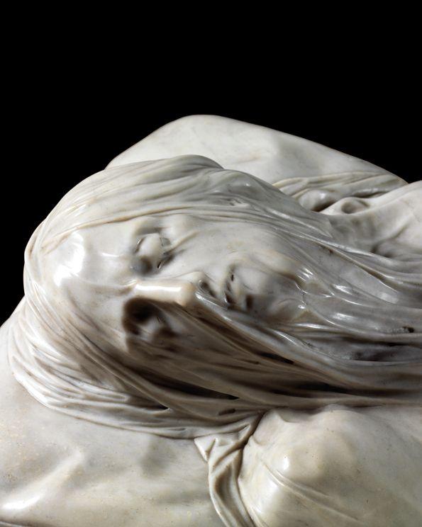 Le visage du Christ voilé (Cristo velato) de Giuseppe Sanmartino, 1753