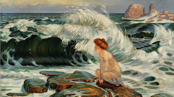 František Kupka (Opočno, 1871 - Puteaux, 1957) La vague, Huile sur toile, 1902 H. 100 x L. 145 cm Collection Galerie des beaux-arts d'Ostrava (GVUO)
