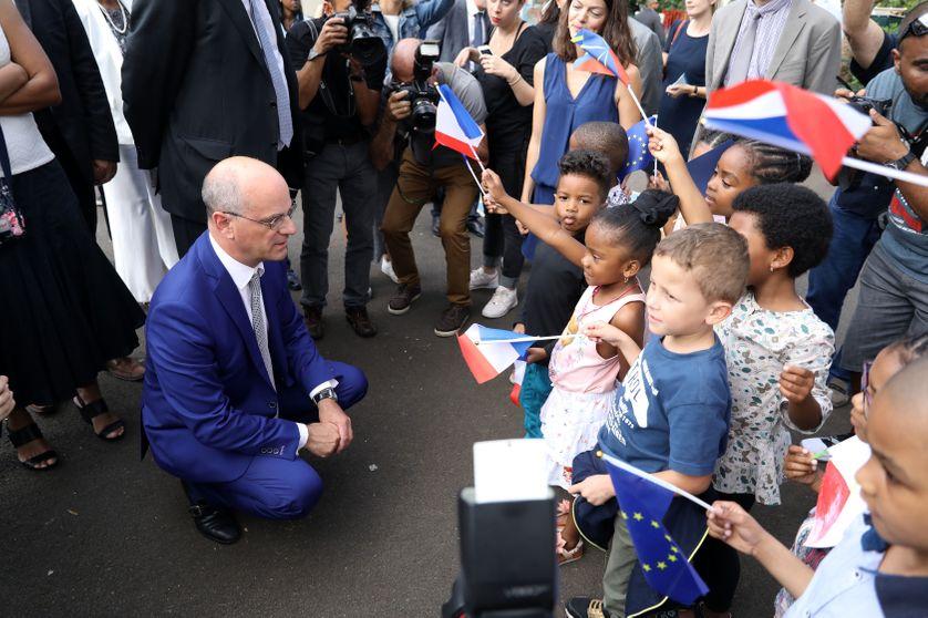 Jean-Michel Blanquer, ministre de l'éducation nationale à Saint-denis de la réunion