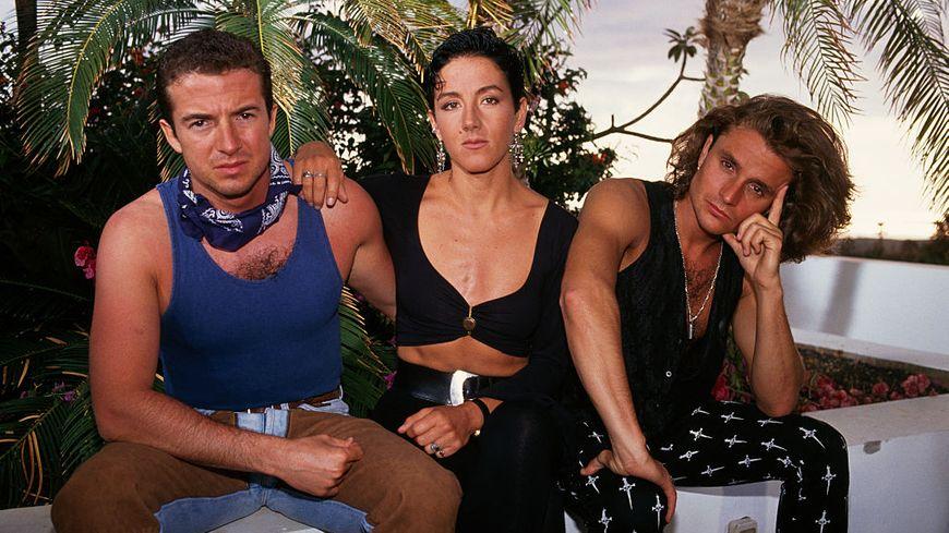 Le trio Mécano avec au centre la chanteuse Ana Torroja.