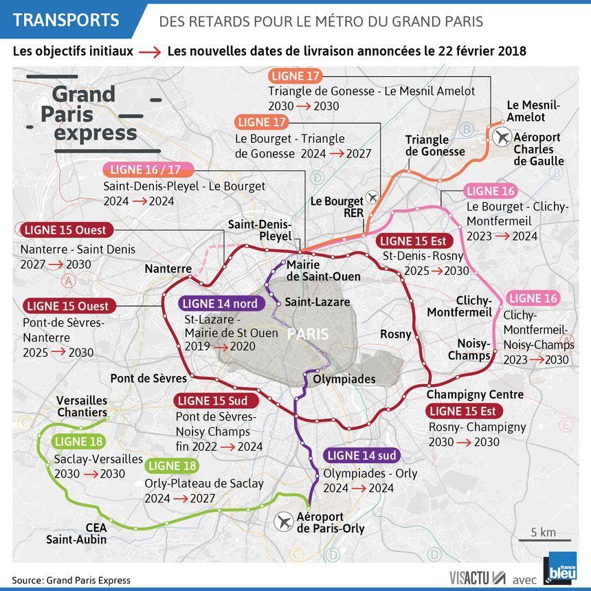 576b07c56e8cb Grand Paris Express : du retard sur la ligne 15, le reste du calendrier  affiné au printemps