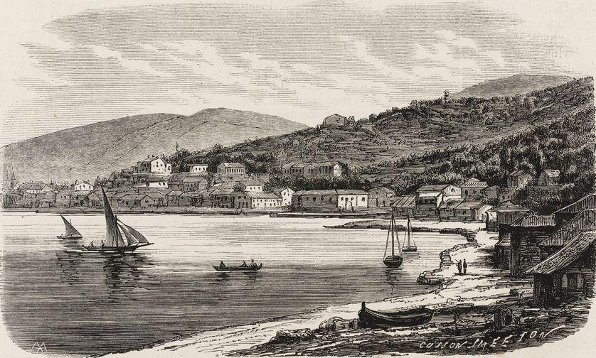 Port de Vathy, Ithaque, Grèce, 1866