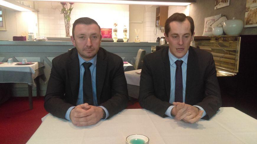 Jean-Jacques Noël (à gauche) aux côtés du député européen Nicolas Bay