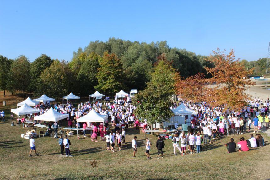 Plusieurs centaines de participants étaient réunis à la base de loisir de Brognard