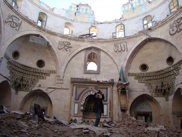 Mosquée détruite à Alep Syrie