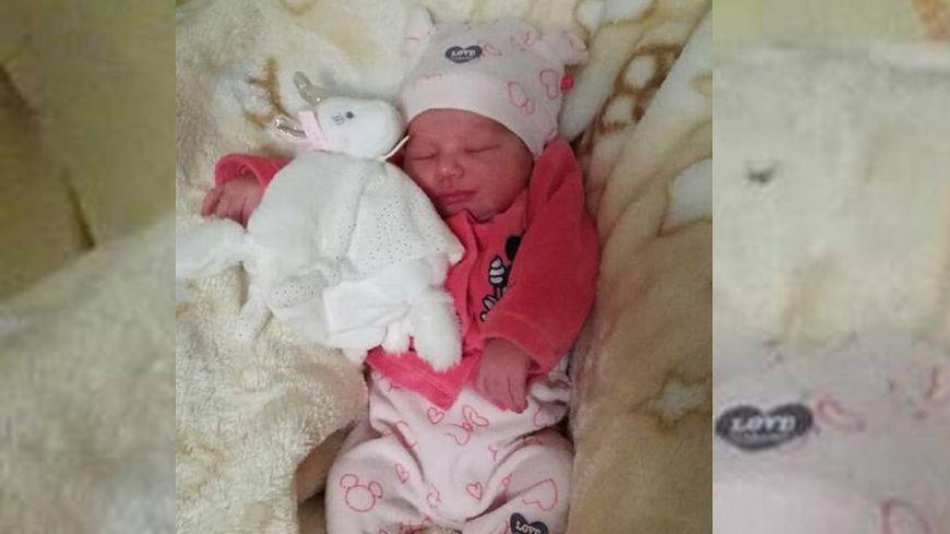 La petite Laily, née ce week-end dans l'ambulance des pompiers