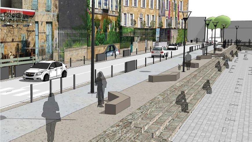 le projet d'aménagement des quais de Bergerac