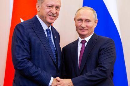 Le turc Erdogan et le russe Poutine hier soir après l'annonce de leur accord sur Idlib