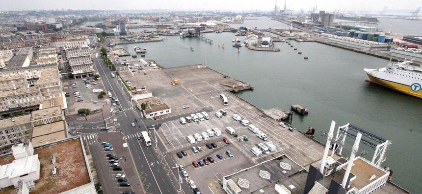 Le quai Southampton en 2014-Photo transmise par la ville du Havre