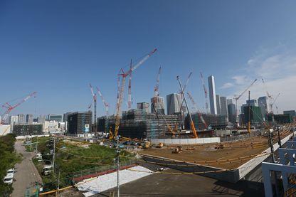 Le village olympique actuellement en construction à Tokyo pour les J.O. d'été en 2020