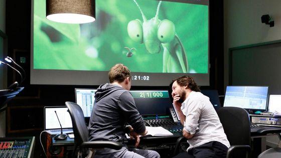 Le compositeur Mathieu Lamboley dans le Studio de l'Orchestre national d'Ile-de-France pour l'enregistrement de la musique du film Minuscules 2