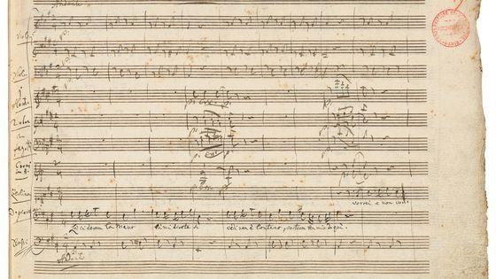 Wolfgang  Amadeus  Mozart,  Don  Giovanni,manuscrit  autographe,  1787-1788,  25  ×  29  cm,  Musique,  MS-1548  (3),  f.  59.