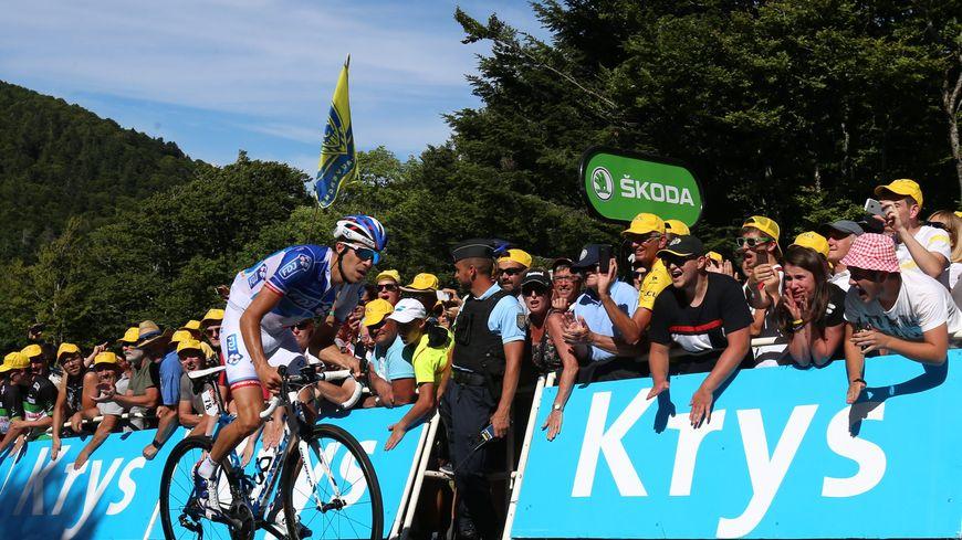 Thibaut Pinot à La Planche des Belles Filles lors du Tour de France 2017.