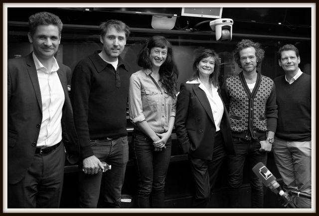Pr Karim Fizazi, Inaki Aizpitarte, Agnès Dahan, Anne-Dominique Toussaint, Romain Duris et Vincent Josse