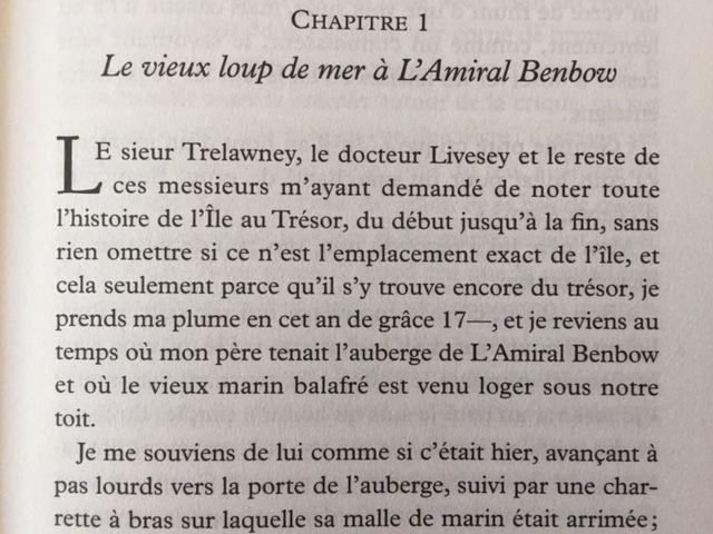 L'ïle au Trésor, de Robert-Louis Stevenson, nouvelle traduction (éd. Tristram )