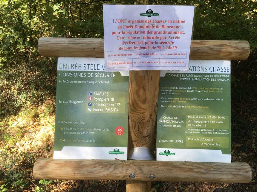 Dans la forêt de Bouconne, le jeudi est réservé à la chasse. Une partie du bois est fermé par mesure de sécurité.