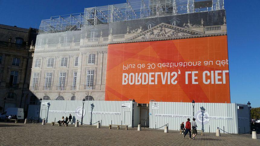 L'immeuble de la CCI Bordeaux Gironde en réfection place de la Bourse