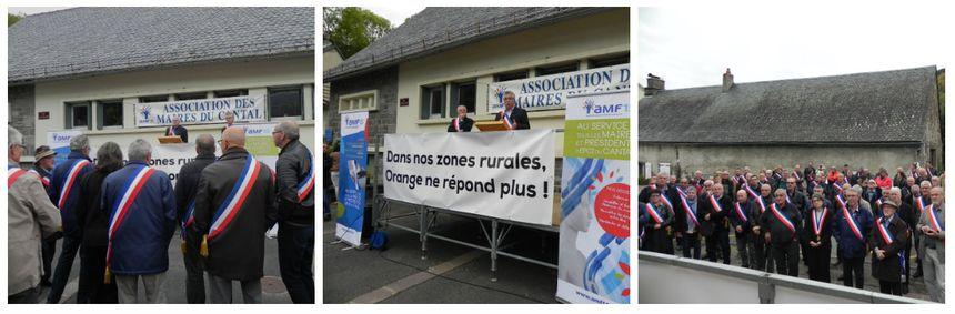 Le rassemblement était organisé par l'Association des Maires du Cantal