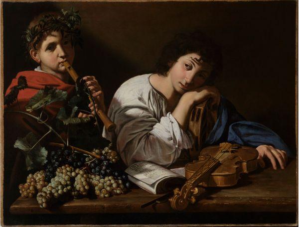 Bartolomeo Cavarozzi, La Douleur d'Aminte, vers 1605-1610, huile sur toile, 82,5 x 106,5 cm,