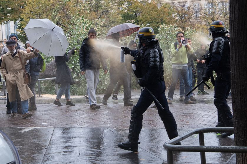 Mobilisation place Jean-Jaurès, à la Plaine, à Marseille, le 16 octobre 2018.
