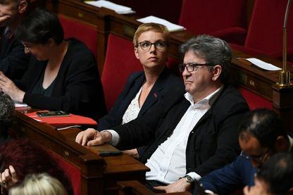 Clémentine Autain et Jean-Luc Mélenchon à l'Assemblée nationale le 12 juin 2018
