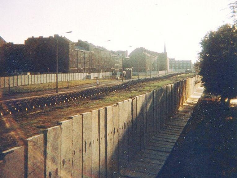 Le Mur Bernauer, non loin du lieu de mort d'Egon Schultz