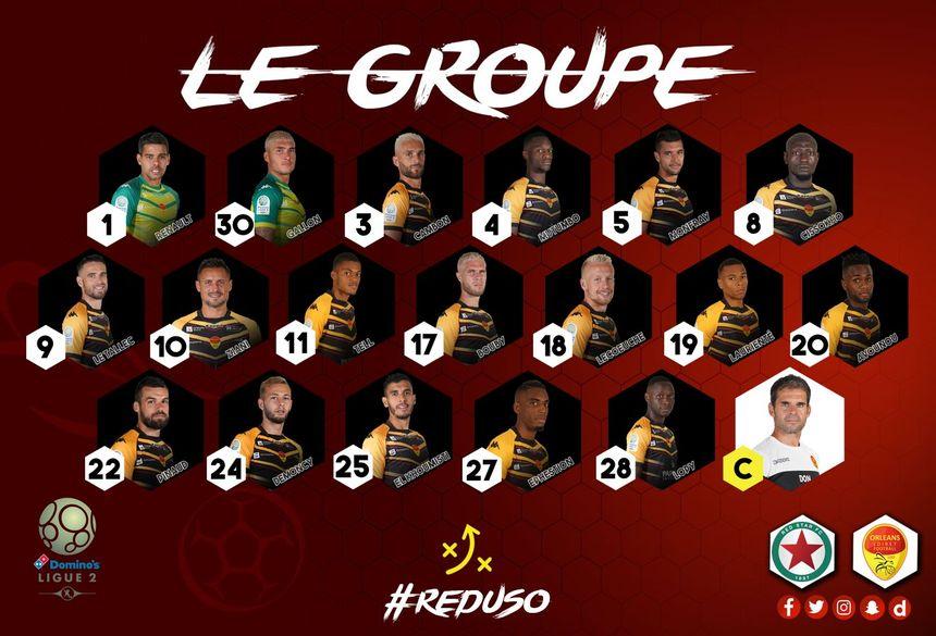 Le groupe retenu par Didier Ollé-Nicolle pour le déplacement face au Red Star