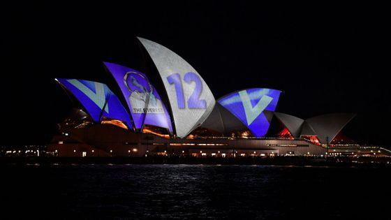 De la publicité diffusée sur l'opéra de Sydney