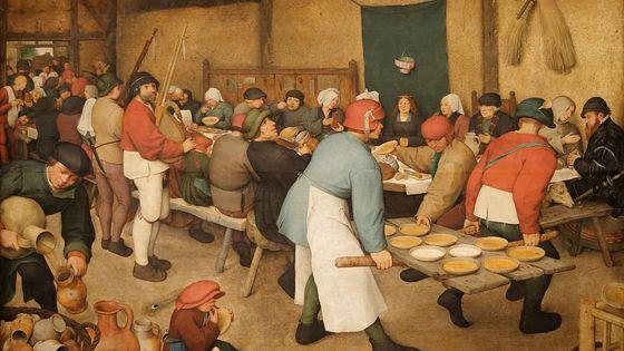 """""""Le Repas de noce"""" ou """"La Noce paysanne"""" (1567/1568 - Pieter Brueghel l'Ancien)"""
