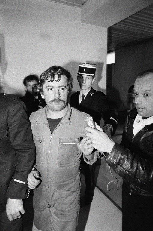Arrestation de Bernard Laroche, inculpé du meurtre de son neveu, Grégory Villeminyé le 16 octobre 1984,