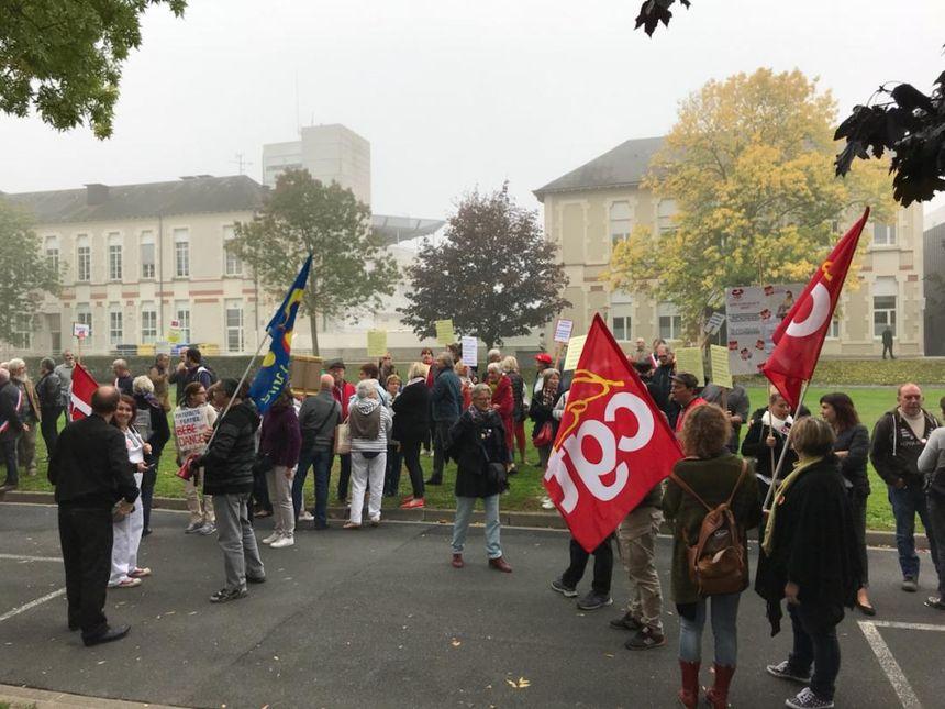 Les manifestants sont à l'hôpital de Châteauroux