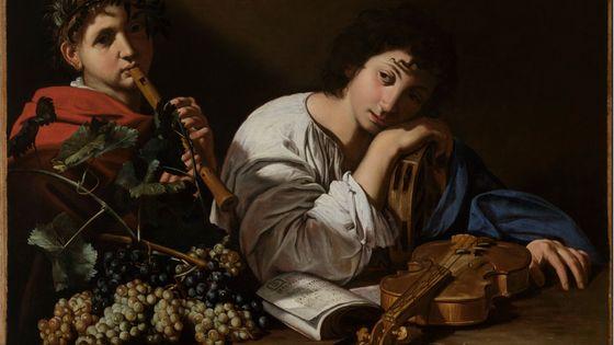 Bartolomeo Cavarozzi, La Douleur d'Aminte, vers 1605-1610, huile sur toile, 82,5 x 106,5 cm