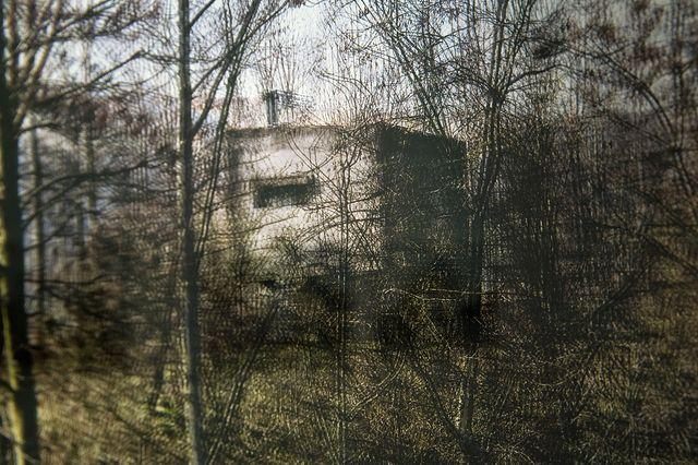 Le transformateur (détail), série Fractal Spaces (2013-18) de Marc Lathuillière, vue de l'exposition collective « France augmentée », Galerie Binome, octobre-décembre 2017.