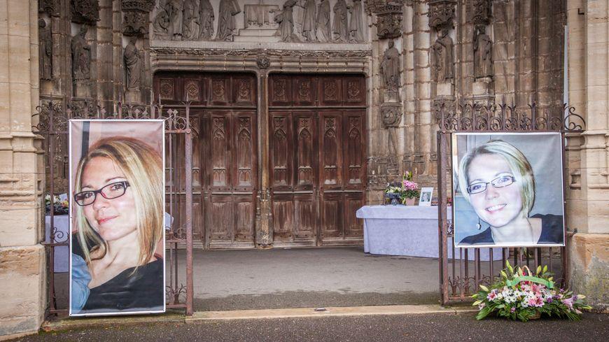 Obsèques d'Alexia Daval à Gray, plusieurs mois avant l'arrestation de son mari Jonathann.