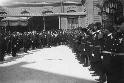 Visite officielle du président de la Troisième République, Armand Fallières, à Toulon en 1913.