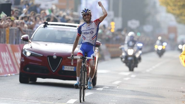 Thibaut Pinot remporte le Tour de Lombardie en Italie