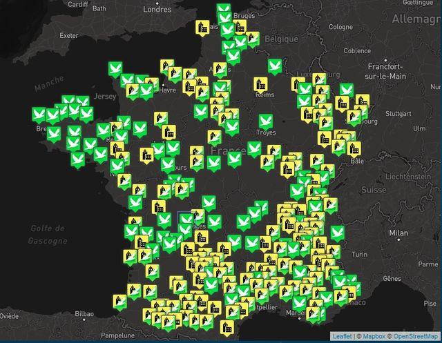 """La carte des """"Jours de la nuit"""" 2018 en France"""